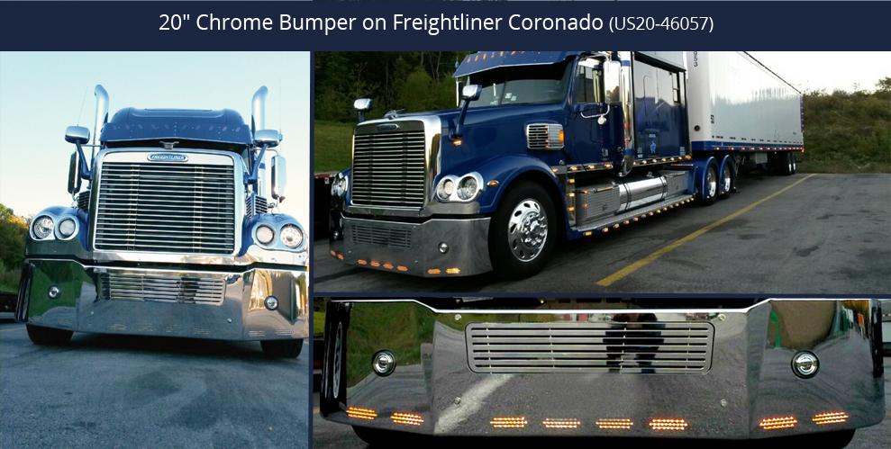 18 Quot Chrome Bumper Fits Freightliner Coronado 2004 2009